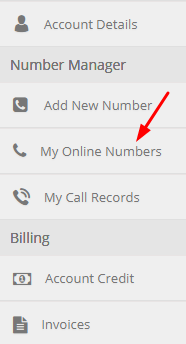 My online numbers